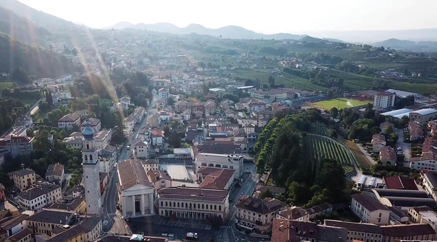 Valdobbiadene in Prosecco Italy