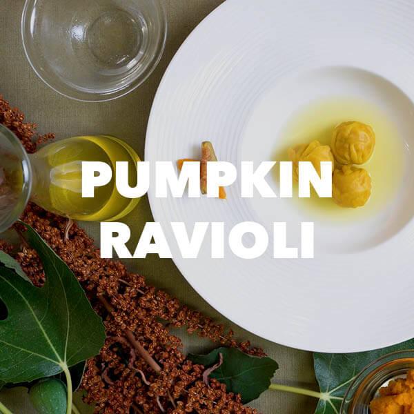 pumpkin raviolo recipe from prosecco