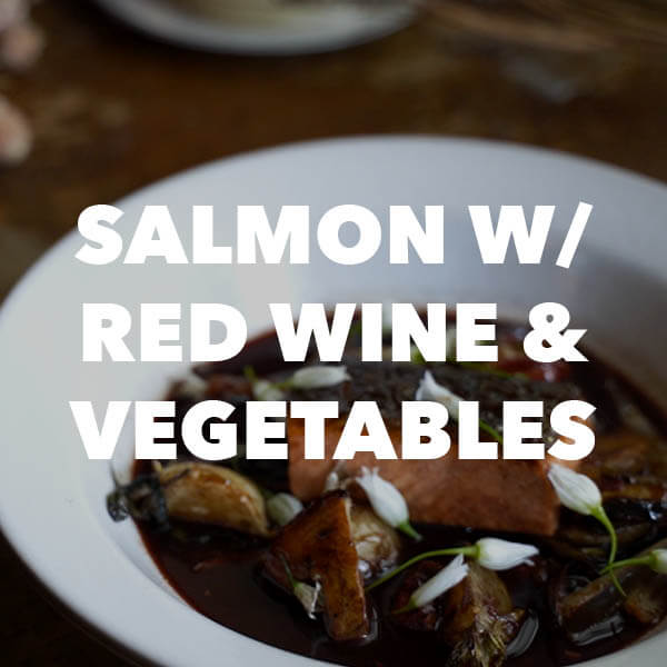 salmon with red wine and vegetables recipe from oregon